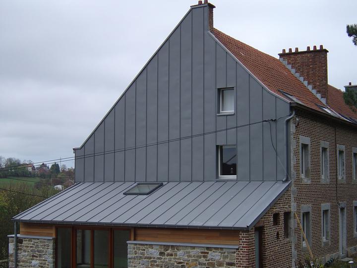 panneau zinc toiture